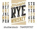 vintage style modern font | Shutterstock .eps vector #764939707