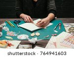 cropped image of designer... | Shutterstock . vector #764941603