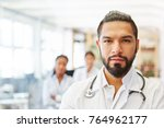 Small photo of Competent doctor as chief physician showing competence and leadership