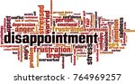 disappointment word cloud... | Shutterstock .eps vector #764969257