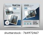 vector  annual report leaflet... | Shutterstock .eps vector #764972467