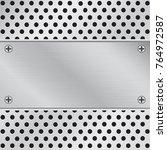 stainless steel background   Shutterstock .eps vector #764972587