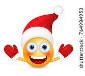santa claus emoticon  smiley ... | Shutterstock .eps vector #764984953