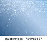 winter sky with falling snow.... | Shutterstock .eps vector #764989537