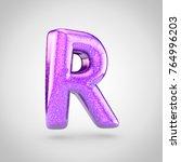 glossy violet glitering letter... | Shutterstock . vector #764996203