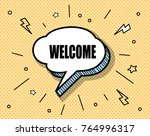 freehand drawn comic book... | Shutterstock .eps vector #764996317