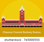 chennai central railway station | Shutterstock .eps vector #765000553