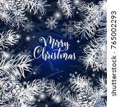 elegant christmas blue... | Shutterstock .eps vector #765002293