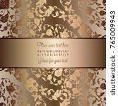 vintage baroque wedding... | Shutterstock .eps vector #765009943