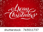 merry christmas and happy new... | Shutterstock .eps vector #765011737