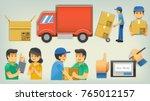 carry express service paper cut ...   Shutterstock .eps vector #765012157