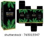 packaging design  luxury box... | Shutterstock .eps vector #765015547
