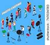 photo casting isometric... | Shutterstock .eps vector #765036583