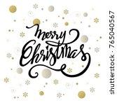 merry christmas text design.... | Shutterstock .eps vector #765040567