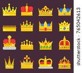 crown vector golden royal... | Shutterstock .eps vector #765042613