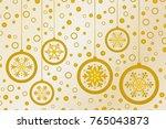 christmas background gold | Shutterstock .eps vector #765043873
