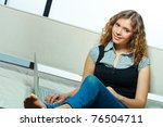 portrait of young student ... | Shutterstock . vector #76504711