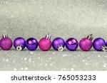 violet christmas decoration.   Shutterstock . vector #765053233