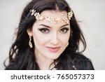 dancer bellydance and khaleegy  ... | Shutterstock . vector #765057373