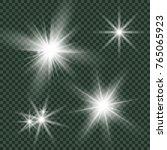 glow light effect. star burst...   Shutterstock .eps vector #765065923