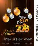 happy new year 2018 vector... | Shutterstock .eps vector #765066433