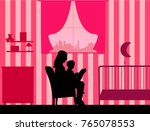 mother reading her daughter a...   Shutterstock .eps vector #765078553