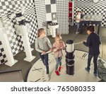 focused kids look for a way out ...   Shutterstock . vector #765080353