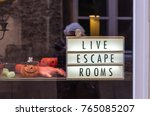 close up of escape game display ... | Shutterstock . vector #765085207