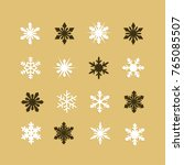 colorful snowflakes collection... | Shutterstock .eps vector #765085507