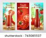 tomato juice and ketchup ad.... | Shutterstock .eps vector #765085537