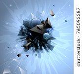 vector broken geometric forms... | Shutterstock .eps vector #765092287