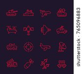army  military line icons set ... | Shutterstock .eps vector #765096883
