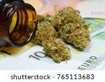 marijuana buds  jar  money and... | Shutterstock . vector #765113683