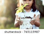 cute asian little child girl... | Shutterstock . vector #765115987