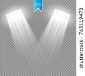 white vector spotlight light... | Shutterstock .eps vector #765119473