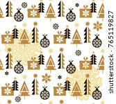 christmas seamless pattern with ...   Shutterstock .eps vector #765119827