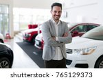 portrait of happy customer... | Shutterstock . vector #765129373