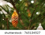 christmas toy   cone on the tree | Shutterstock . vector #765134527