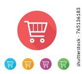 shopping cart icon. flat design ... | Shutterstock .eps vector #765136183