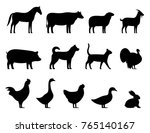 livestock  farm animals black... | Shutterstock .eps vector #765140167
