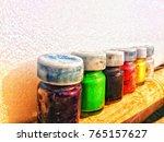 jars of colours  | Shutterstock . vector #765157627