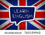 learn english language | Shutterstock . vector #765159943