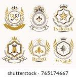 set of vector vintage elements  ... | Shutterstock .eps vector #765174667