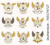 collection of vector heraldic... | Shutterstock .eps vector #765174727