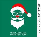 abstract christmas card santa... | Shutterstock .eps vector #765177607
