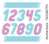vector numbers  modern numerals ... | Shutterstock .eps vector #765180793
