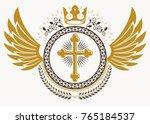heraldic coat of arms... | Shutterstock .eps vector #765184537