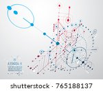 technical plan  abstract... | Shutterstock .eps vector #765188137