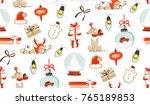 hand drawn vector abstract fun... | Shutterstock .eps vector #765189853