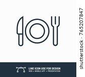 icon eating  fork  knife...   Shutterstock .eps vector #765207847